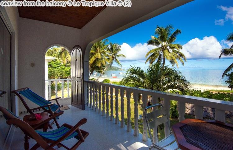 seaview from the balcony Le Tropique Villa