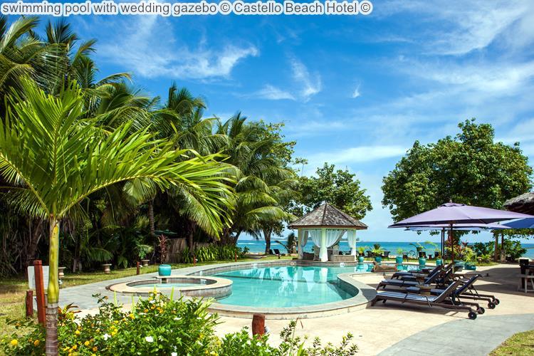 Swimming Pool With Wedding Gazebo © Castello Beach Hotel ©