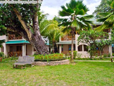 gezicht opIndian Ocean Lodge Seychelles