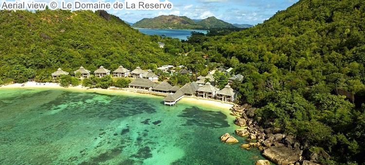 Aerial view Le Domaine de La Reserve