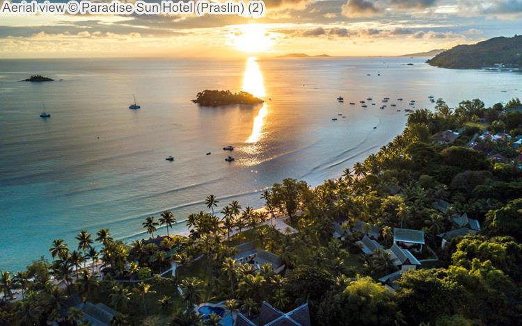 Aerial view Paradise Sun Hotel Praslin