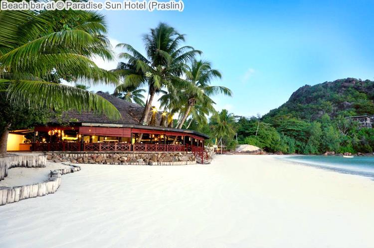 Beach bar at Paradise Sun Hotel Praslin