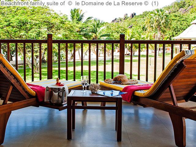 Beachfront family suite of le Domaine de La Reserve