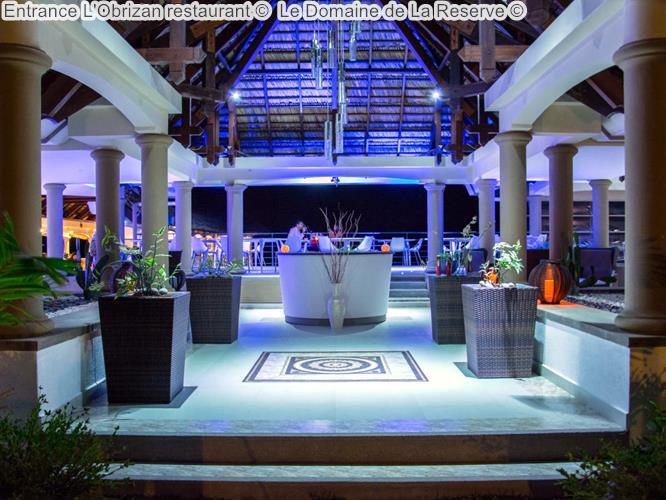 Entrance LObrizan restaurant Le Domaine de La Reserve