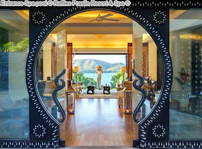 Entrance Spa pool Raffles Praslin Resort Spa