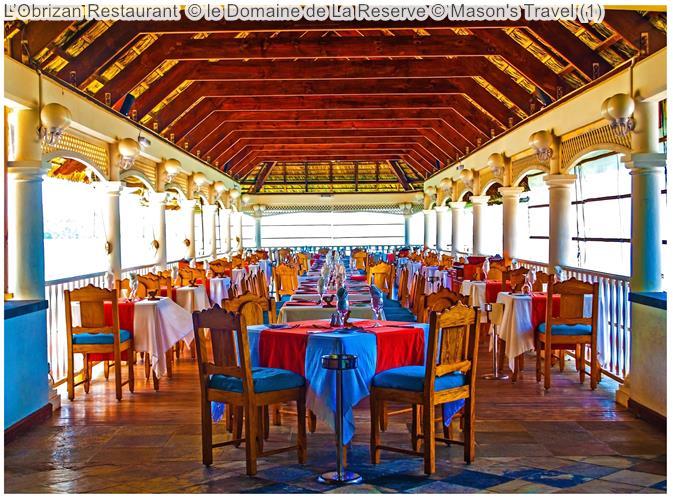 L'Obrizan Restaurant © Le Domaine De La Reserve ©