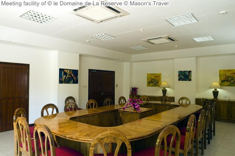 Meeting facility of le Domaine de La Reserve