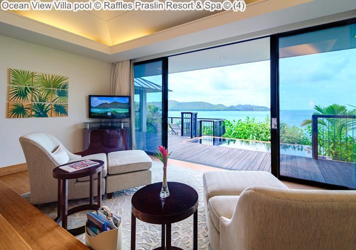 Ocean View Villa pool Raffles Praslin Resort Spa