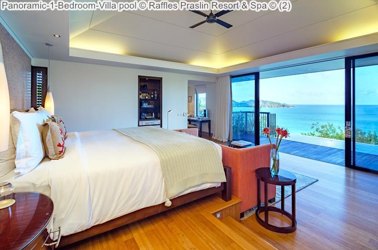 Panoramic Bedroom Villa pool Raffles Praslin Resort Spa