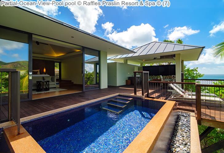 Partial Ocean View Pool pool Raffles Praslin Resort Spa