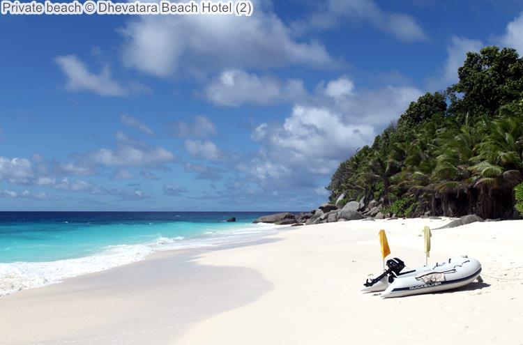 Private beach Dhevatara Beach Hotel