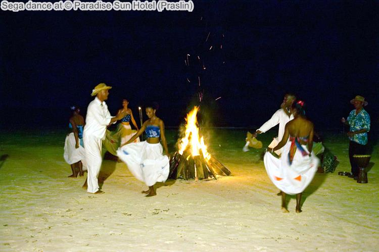 Sega dance at Paradise Sun Hotel Praslin