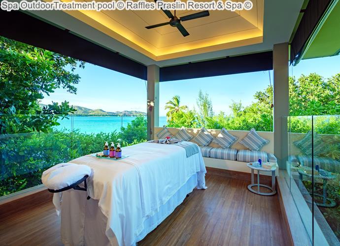 Spa OutdoorTreatment pool Raffles Praslin Resort Spa