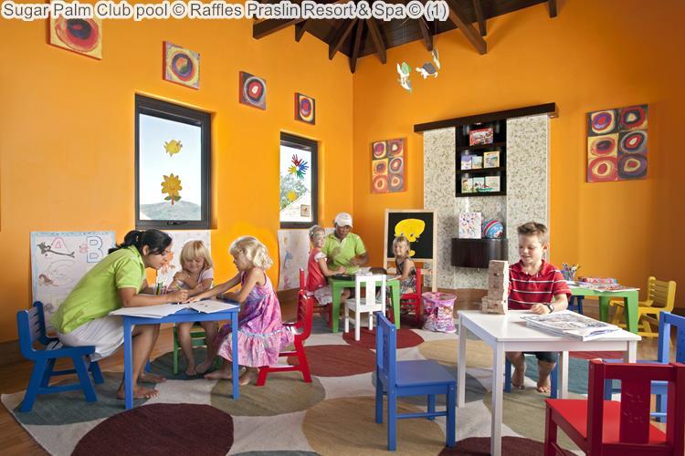 Sugar Palm Club pool Raffles Praslin Resort Spa