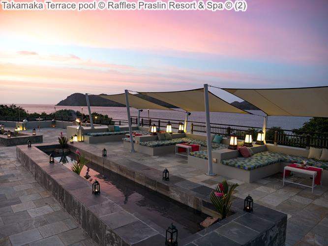 Takamaka Terrace pool Raffles Praslin Resort Spa