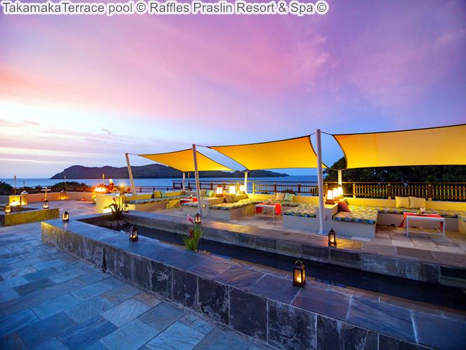 TakamakaTerrace pool Raffles Praslin Resort Spa