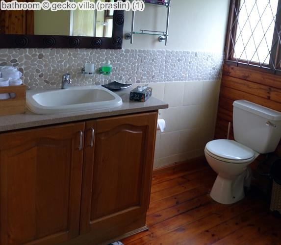 bathroom gecko villa praslin