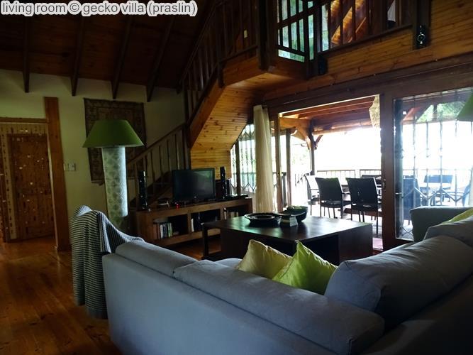 living room gecko villa praslin