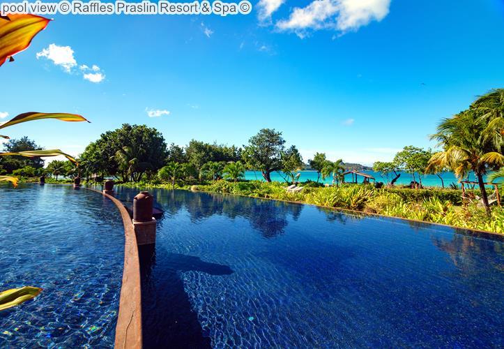 pool view Raffles Praslin Resort Spa