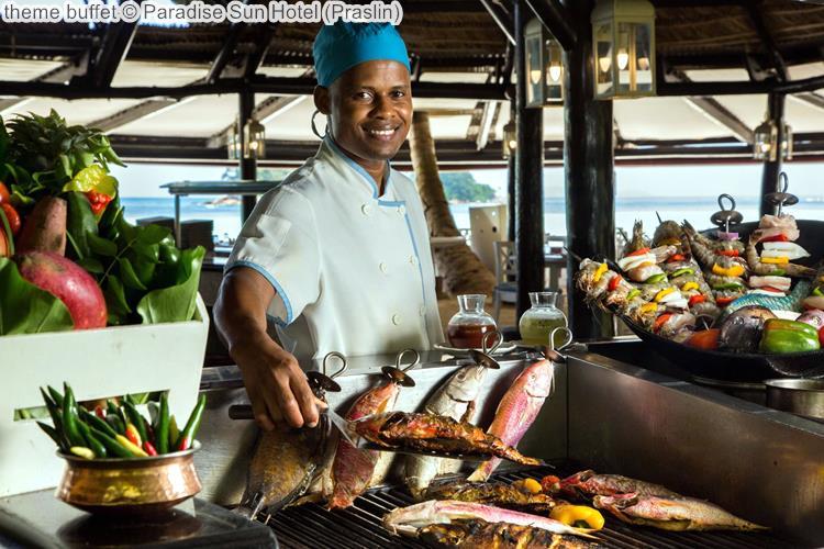 theme buffet Paradise Sun Hotel Praslin