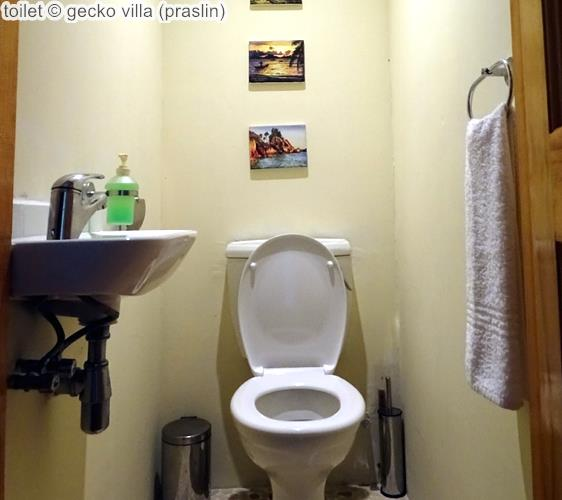 toilet gecko villa praslin