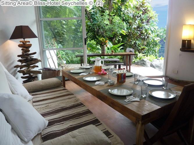 zitkamer Bliss Hotel Seychelles