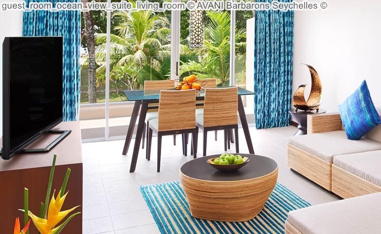 guest room ocean view suite living room AVANI Barbarons Seychelles