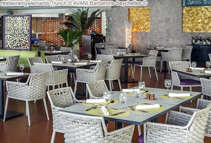 restaurant elements lunch AVANI Barbarons Seychelles
