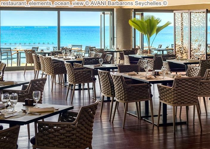 restaurant elements ocean view AVANI Barbarons Seychelles