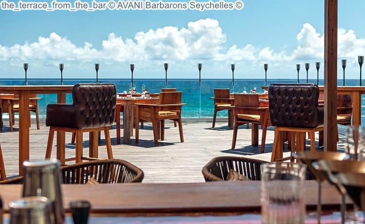 the terrace from the bar AVANI Barbarons Seychelles