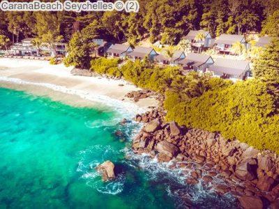 Aerial view CaranaBeach Seychelles