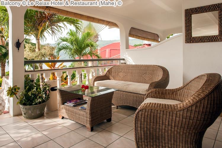 Balcony Le Relax Hotel Restaurant Mahe