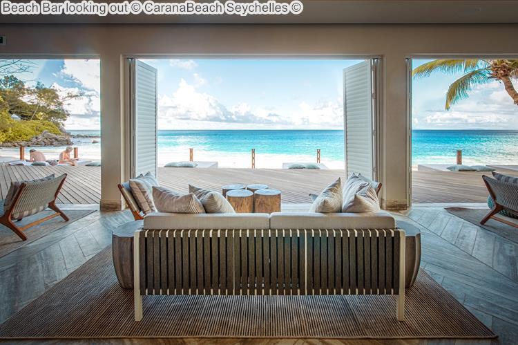 Beach Bar looking out CaranaBeach Seychelles