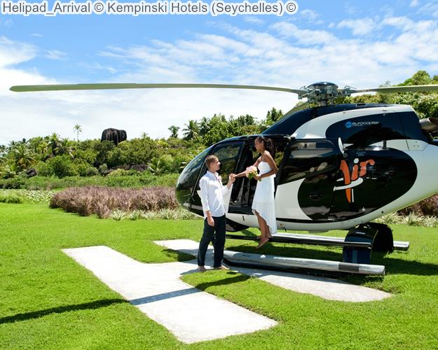 Helipad Arrival © Kempinski Hotels (Seychelles) ©