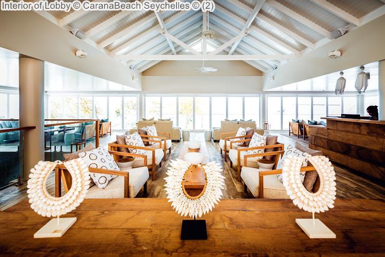 Interior of Lobby CaranaBeach Seychelles