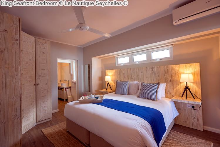 King Seafront Bedroom © Le Nautique Seychelles ©