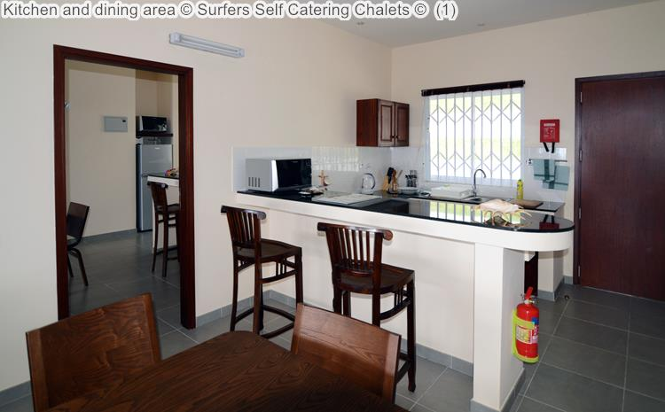 Kitchen and dining area Surfers Self Catering Chalets