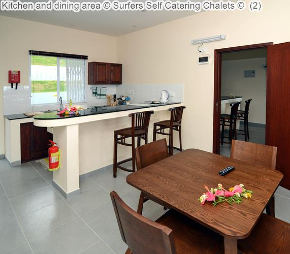 Kitchen And Dining Area © Surfers Self Catering Chalets ©