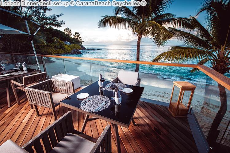 Lorizon Dinner deck set up CaranaBeach Seychelles