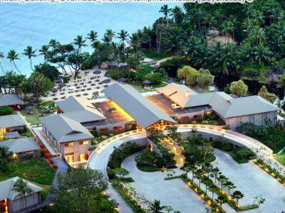 Main Building Overhead View Kempinski Hotels Seychelles