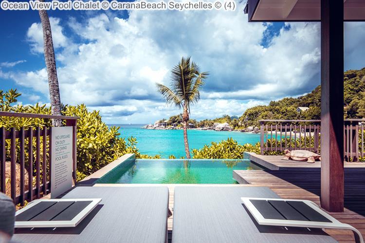 Ocean View Pool Chalet CaranaBeach Seychelles