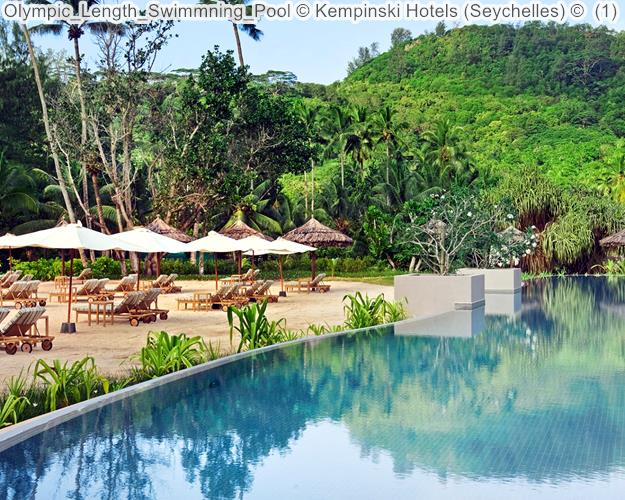 Olympic Length Swimmning Pool Kempinski Hotels Seychelles