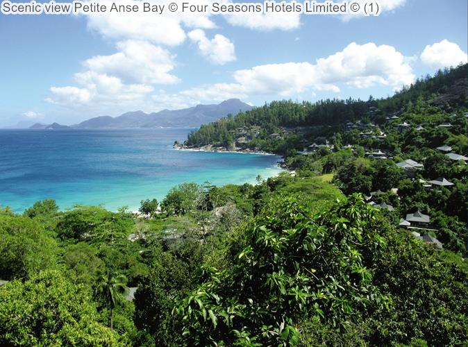 Scenic view Petite Anse Bay Four Seasons Hotels Limited