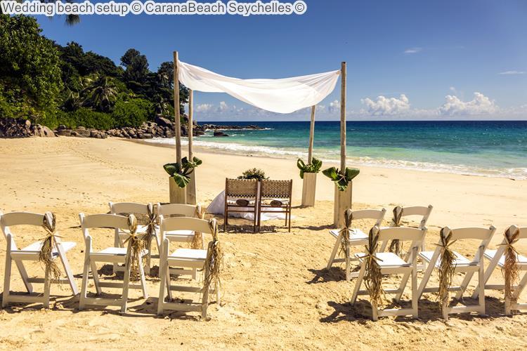 Wedding beach setup CaranaBeach Seychelles