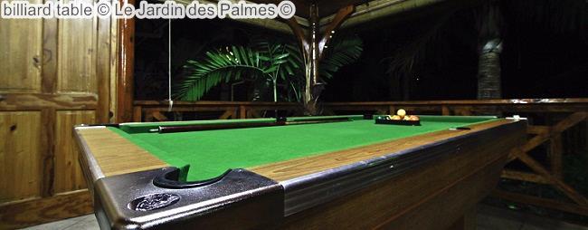 Billiard Table © Le Jardin Des Palmes ©
