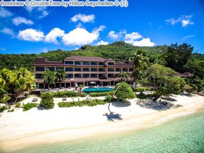 frontview DoubleTree by Hilton Seychelles