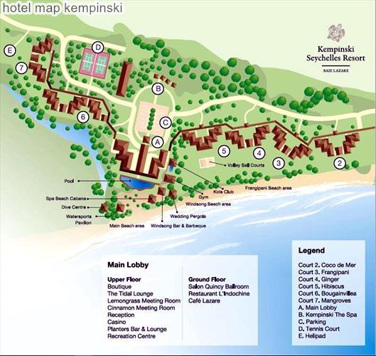 Hotel Map Kempinski Seychelles Resort