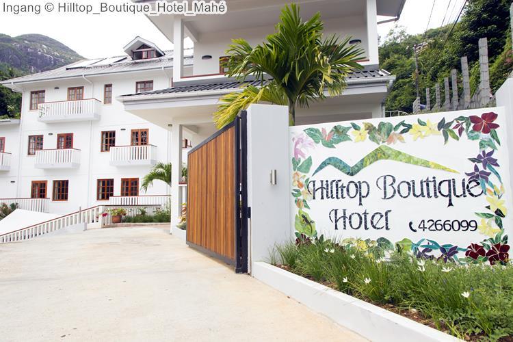 Ingang Hilltop Boutique Hotel Mahé