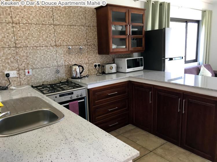 Keuken Dar & Douce Apartments Mahé