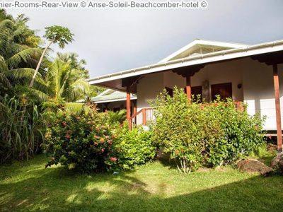 Achterzijde Premier room Anse Soleil Beachcomber hotel Mahé Seychellen